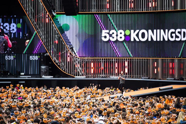 Dit was hoe 538 Koningsdag in 2019 werd gevierd in Breda. Beeld ANP Kippa