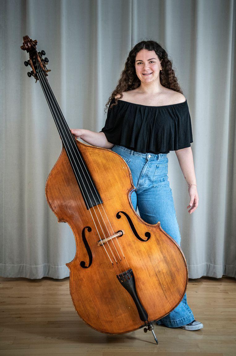 Sofia Perikleous uit Cyprus: 'De link met het Concertgebouworkest vind ik heel belangrijk, dat is zo'n groots instituut. Ik wil ook verder kijken dan mijn eigen wereld.' Beeld Koen Verheijden