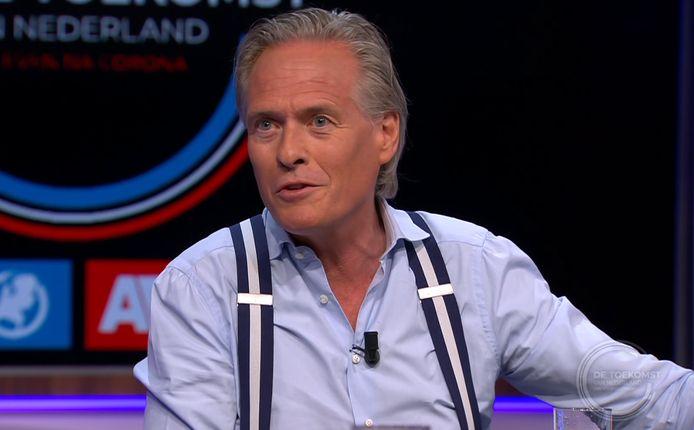Jort Kelder in 'De Toekomst van Nederland, ons leven na corona', een programma van SBS en het AD.