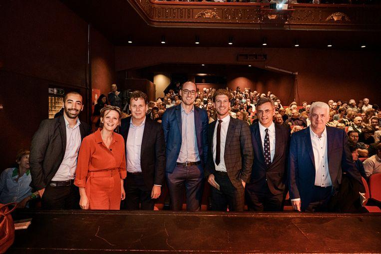 De zeven kandidaat-voorzitters van CD&V. Beeld Eric de Mildt