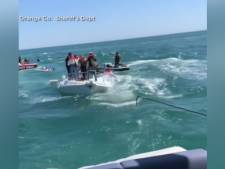 14 personnes sauvées d'un bateau en train de couler