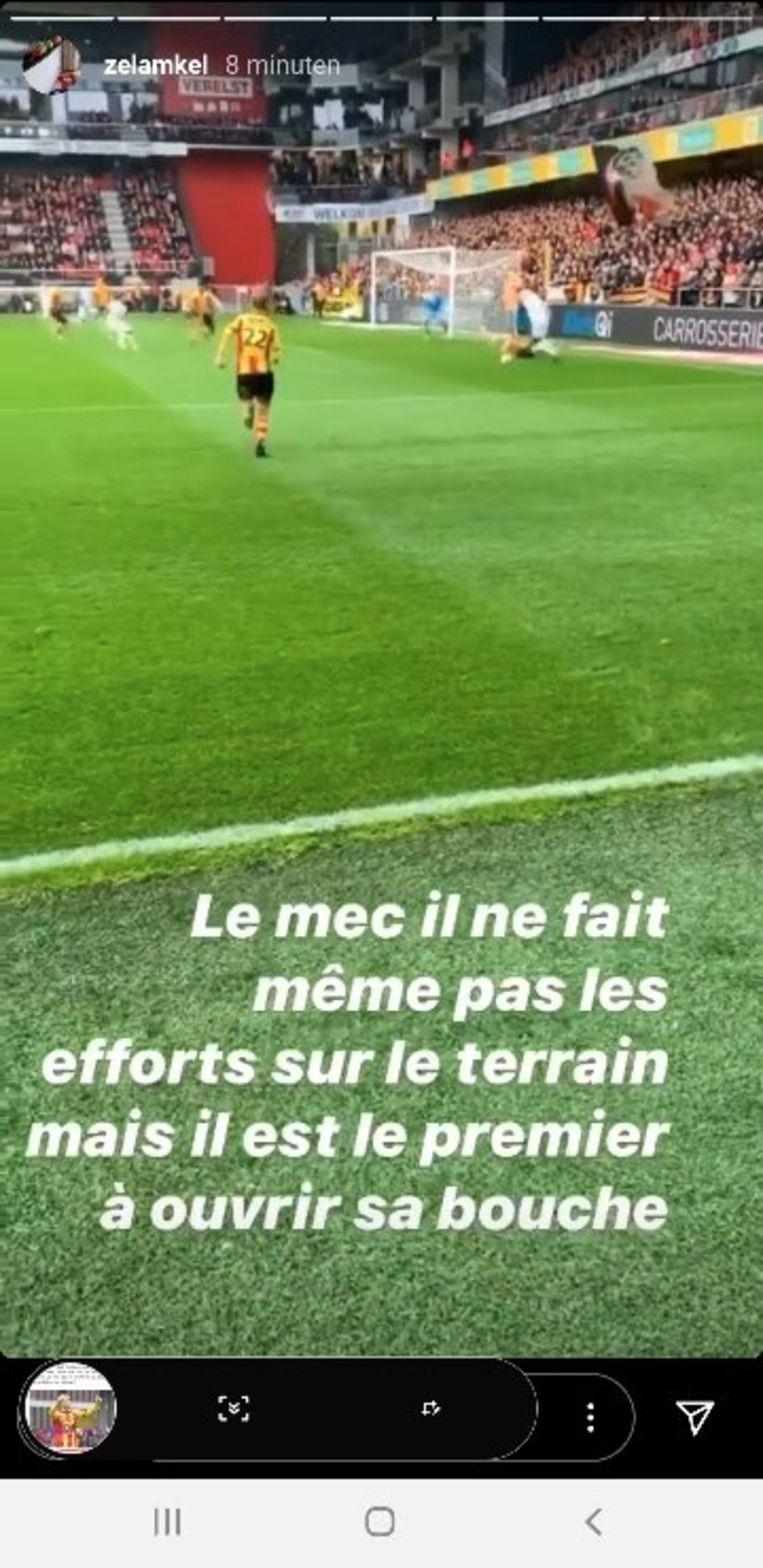 De bewuste uithaal op de Instagram Stories van Didier Lamkel Zé.