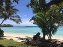 Efate, een van 82 eilanden die Vanuatu rijk is. Hier woont Enschedeër Alexander de Groot (34) met zijn gezin.