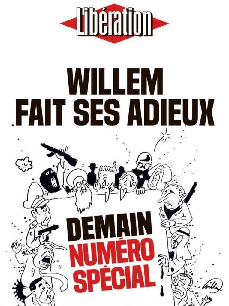 De laatste illustratie van Willem voor Libération. Beeld