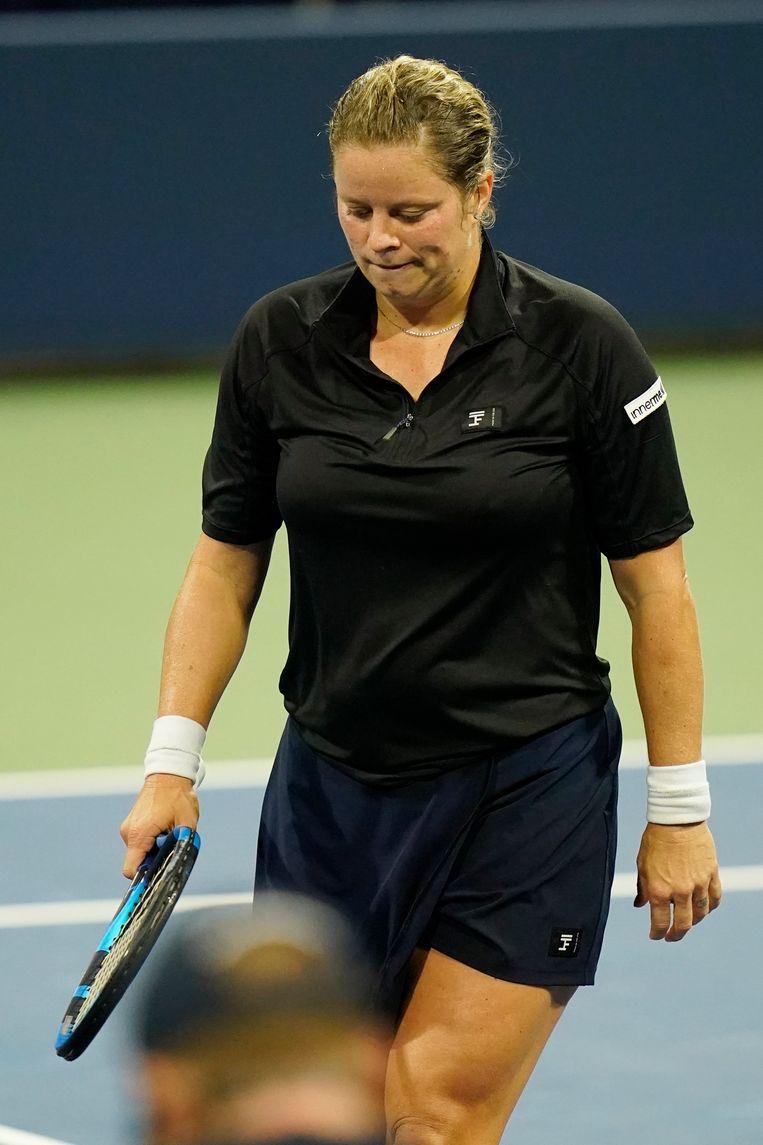 Kim Clijsters' lichaamstaal sprak boekdelen. Beeld AP