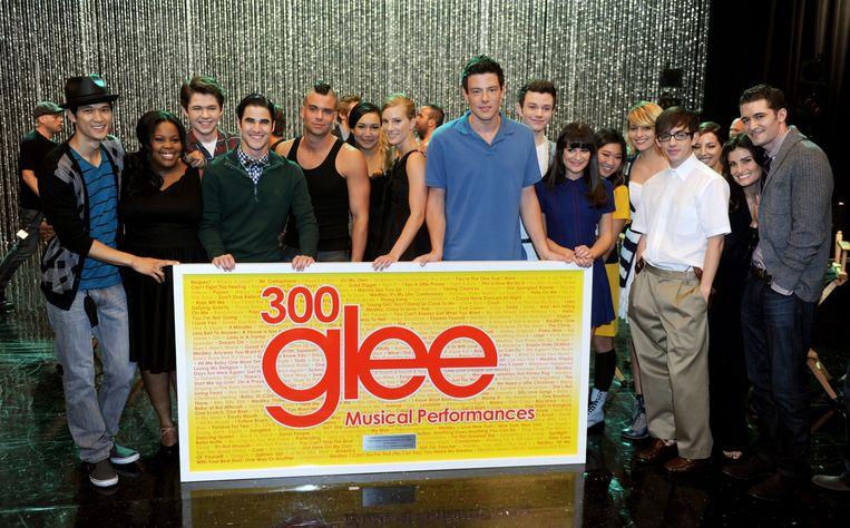 De cast van 'Glee' Beeld Getty Images