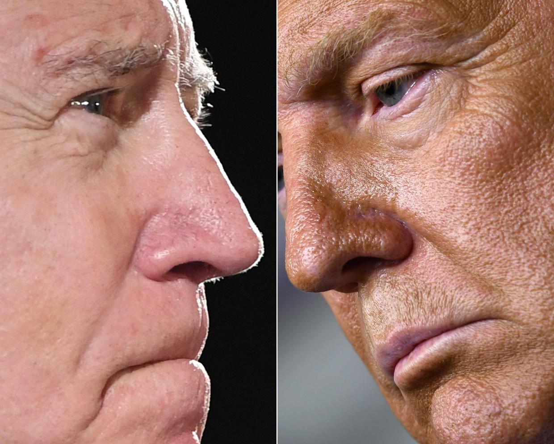 Joe Biden en Donald Trump. Beeld AFP