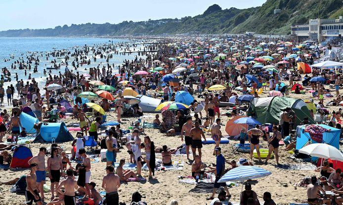 La plage de Bournemouth, jeudi 25 juin