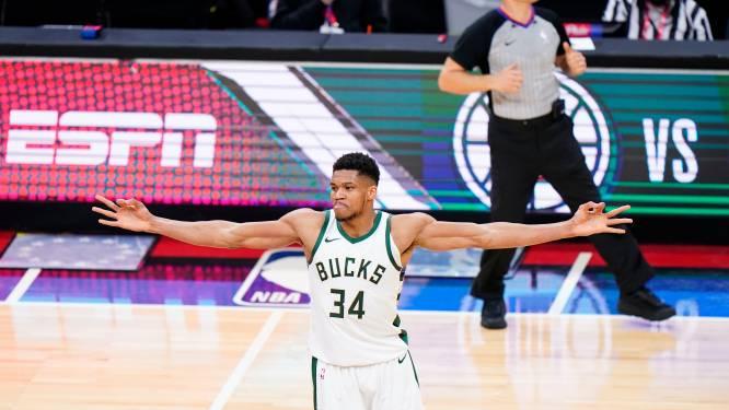 Antetokounmpo leidt Milwaukee Bucks in verlenging voorbij Philadelphia, Doncic toont opnieuw klasse