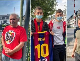 """Messi-fans komen toe aan hotel, waar security massaal op post is: """"Zo'n kans krijg je niet elke dag"""""""