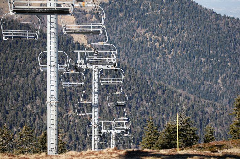 Geen sneeuw in Le Mourtis in de Pyreneeën.