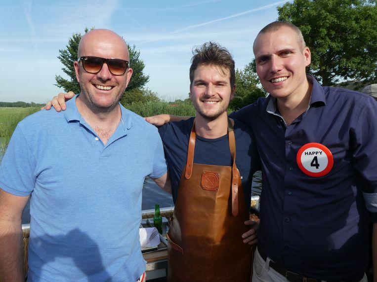De mannen van Tunga: Ernesto Spruyt, Bart Leijssenaar en Reinier van Scherpenzeel. Spruyt: