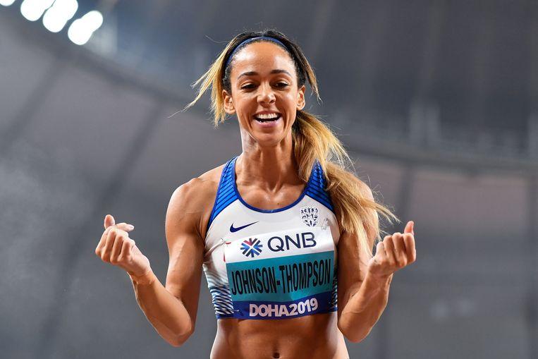 Katarina Johnson-Thompson, al jaren Thiams voornaamste concurrente. Beeld AFP