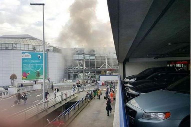 De aanslag op de luchthaven van Zaventem op 22 maart. Beeld kos