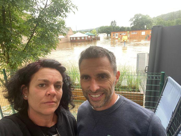 Camping LaBrise in Hotton van Izegemnaars Severine Santy en Stijn Remmerie kreunt onder de wateroverlast.