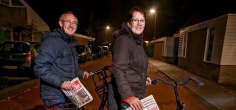 Op pad met bezorgster Riet en haar bomvolle tas met kranten