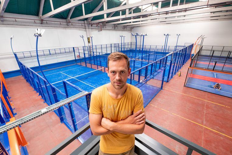 Tom De Sutter opende in Mechelen in 2017 Arenal, waar onder meer een aantal padelterreinen zijn. Beeld David Legreve