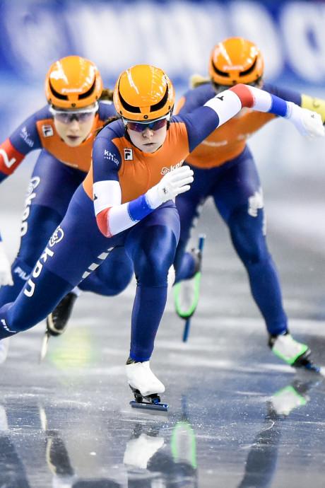 Goud voor Nederlandse vrouwen op teamsprint