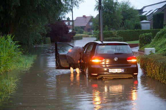 De laatste grote overstroming in Lichtervelde dateert van 28 juli 2014.