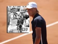 Een Fila-tenue en blonde manen, op Roland Garros zet Leo Borg de tijd 40 jaar terug