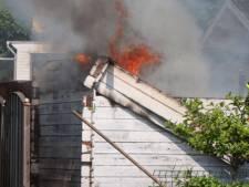 Vrijgekomen asbest bij brand op camping  De Rietschoof in Aalst