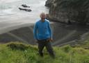 Beck bij een van de Britse stranden