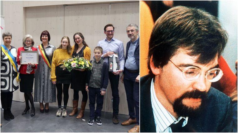 De familie van Karel Van Noppen bij de benoeming tot ereburger.