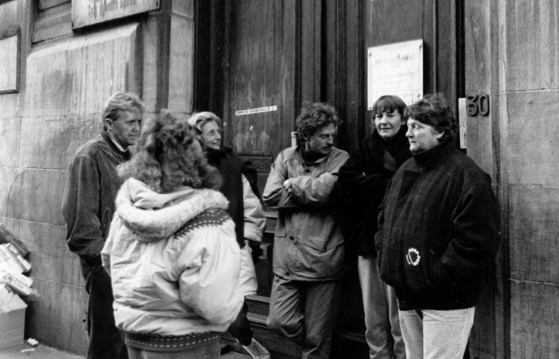 Franstalige leerkrachten voeren actie in 1990. Beeld ©BELGAIMAGE