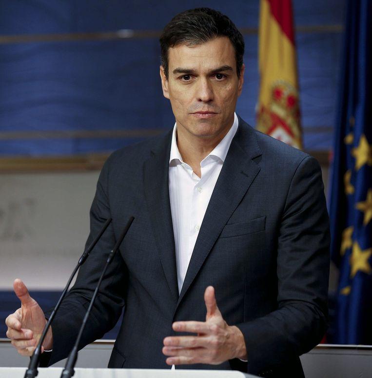Aan socialistische voorman Pedro Sánchez nu de taak een regering te vormen Beeld epa