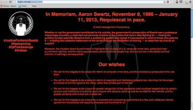 Screenshot van de gehackte website Beeld The Verge