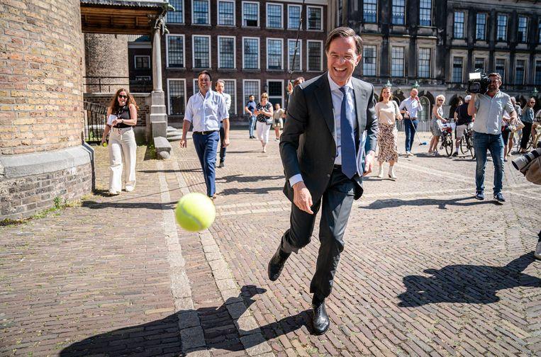 Mark Rutte geeft al sinds januari van dit jaar leiding aan een demissionair kabinet. Beeld ANP