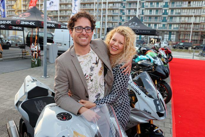 Jelle De Beule en echtgenote Sylvia.