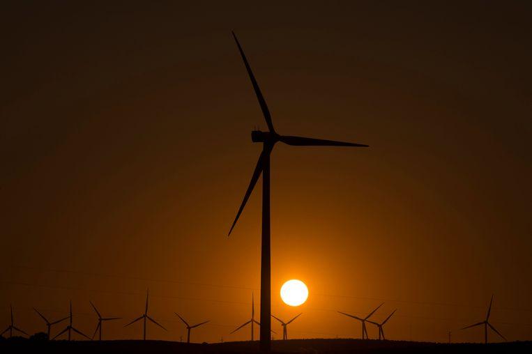 Een windmolenpark nabij het Spaanse Malaga. Beeld AFP
