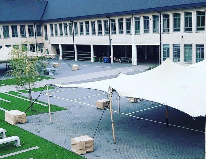 De speelplaats van campus Anton Bergmann zal in de rest van de week leeg blijven.