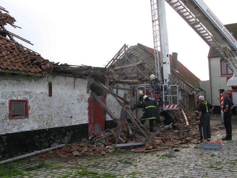 Archiefbeeld: in 2008 stortte een deel van de kinderboerderij in.