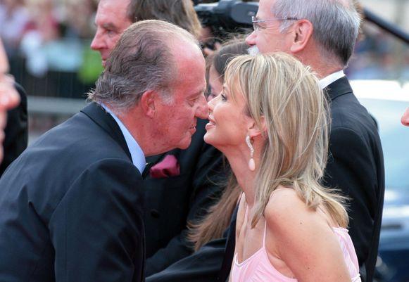 Juan Carlos en zijn beruchtste minnares, de Duits-Deense Corinna Larsen.