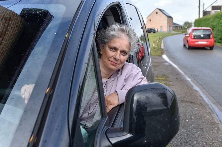 Beveren 25/04/2019, Ingeborg Van Hove getuigt over verkeersagressie.