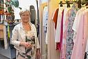 Marie-Christine Debruyne in haar dameskledingszaak.