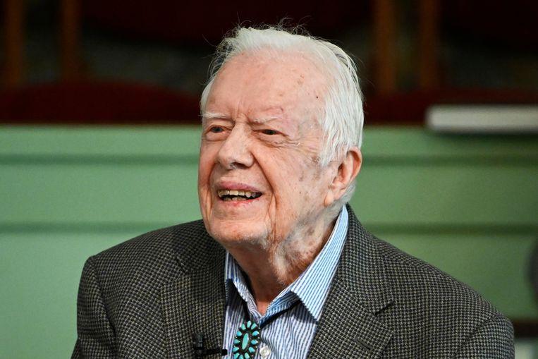 De Amerikaanse oud-president Jimmy Carter. Beeld AP