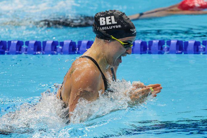 Fanny Lecluyse haalde de finale in het zwemmen. 25 jaar na Brigitte Becue hadden we zo nog eens een Belgische vrouw in een olympische zwemfinale.