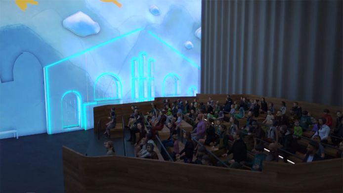 Een draaiend theater moet een hoogtepunt van de WFC Experience worden.