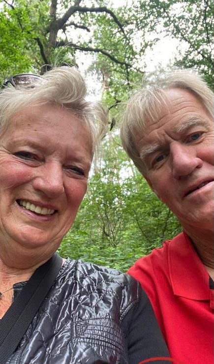 Ineke Kroon en haar man.