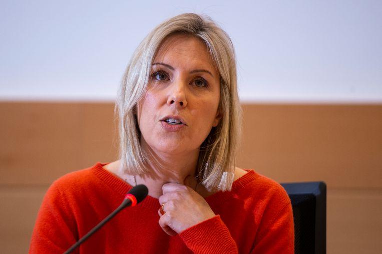 Minister van Defensie Ludivine Dedonder (PS). Beeld BELGA