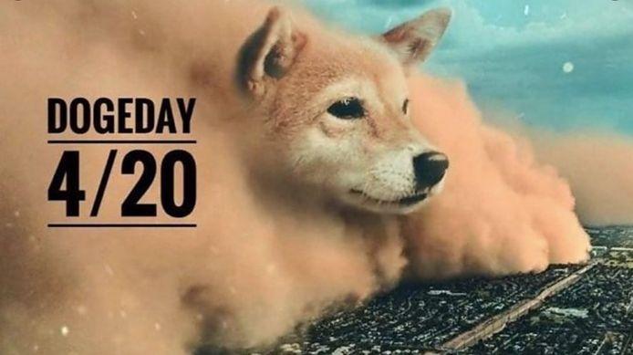 """Een van de memes die van '#dogeday"""" een hype moeten maken."""