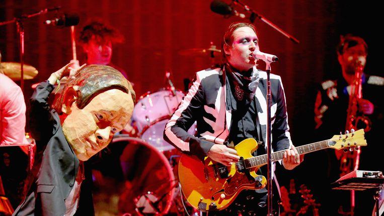 Win Butler van Arcade Fire tijdens het Coachella Valley-festival in Indio, Californië. Beeld getty