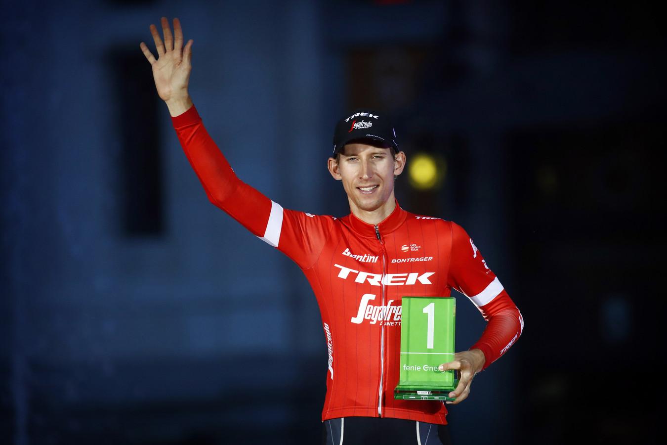Bauke Mollema, in Madrid aangewezen als meest strijdlustige renner van de Vuelta.