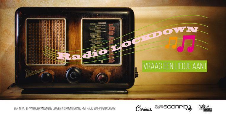 Met Radio Lockdown willen HuisvandeMens Leuven, Curieus Vlaams-Brabant en Radio Scorpio de afstand dichten en de afzondering verlichten. Beeld RV