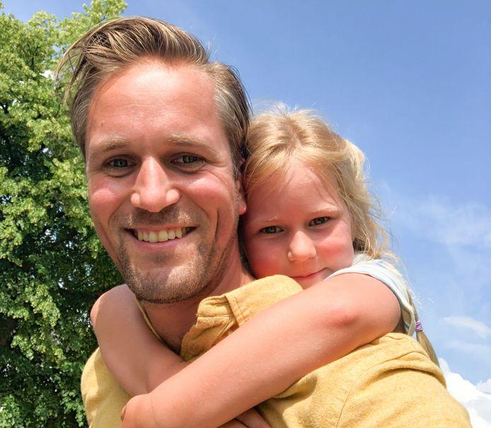 Lykele Muus en zijn dochter.