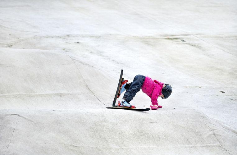 Outdoor Ski, kids, Rotterdam Beeld Klaas Jan van der Weij
