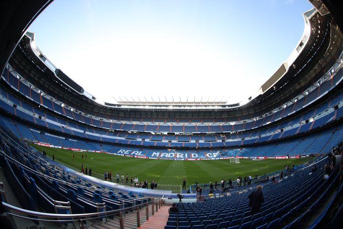 """Le stade Santiago Bernabeu, antre du Real Madrid, l'un des clubs fondateurs de la """"Super League."""""""